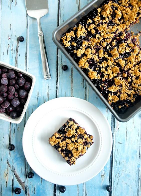 vegan blueberry oat bars