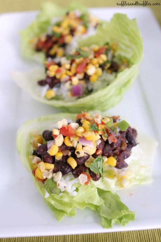 Detox Recipes: Black Bean Lettuce Wraps
