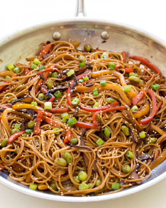 Healthy Dinner Recipes for Beginners: Rainbow Vegetable Noodle Stir-Fry by Chef Savvy