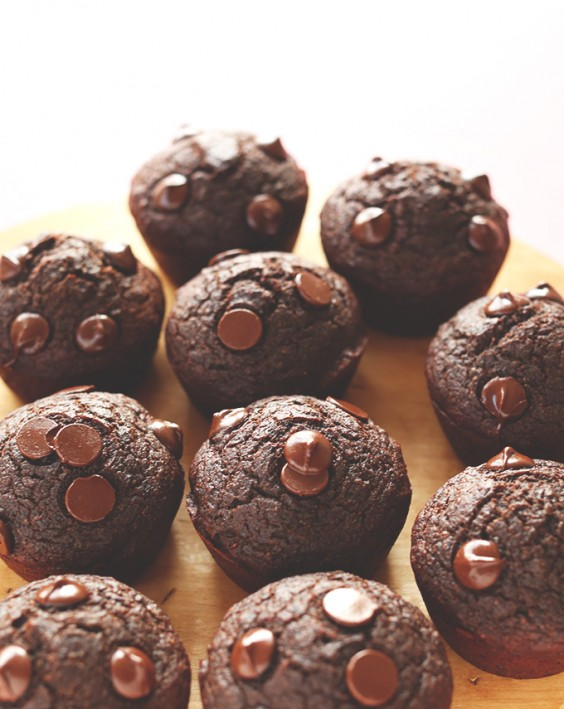 14. Fudgy Vegan Double Chocolate Beet Muffins