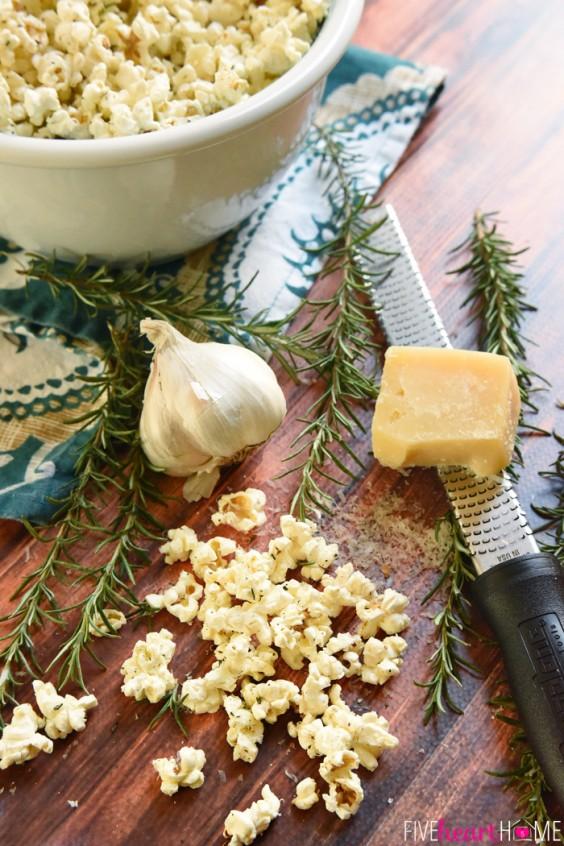 15. Rosemary Parmesan Popcorn