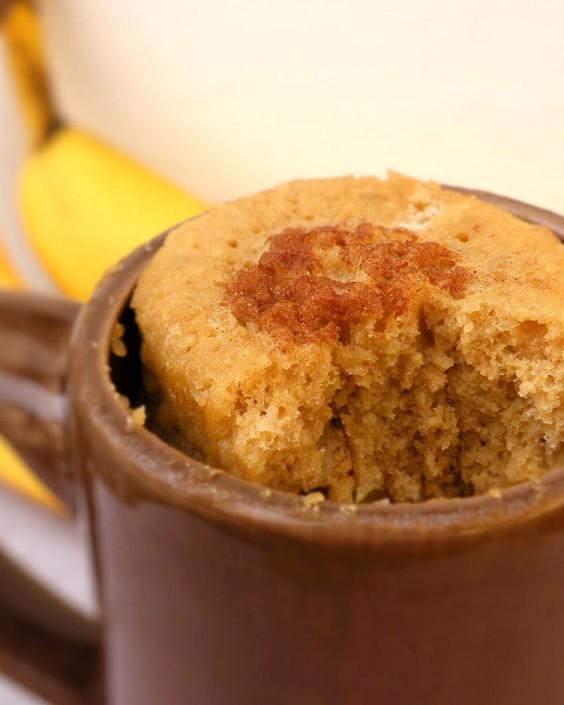 banana bread mug cake