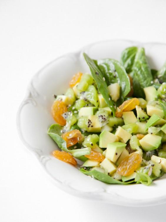 Spinach, Avocado, and Kiwi Salad