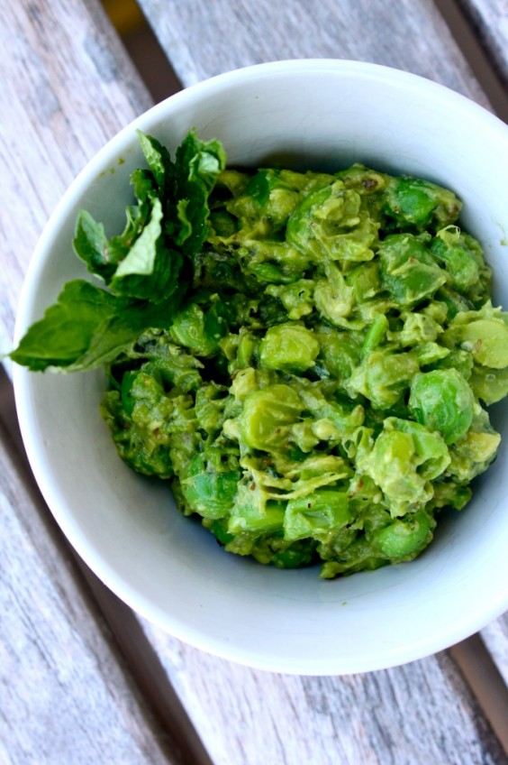 Mint and Pea Guacamole Recipe