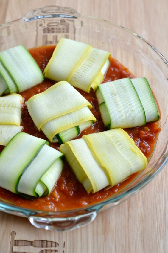 Zucchini Ravioli With Spinach and Ricotta