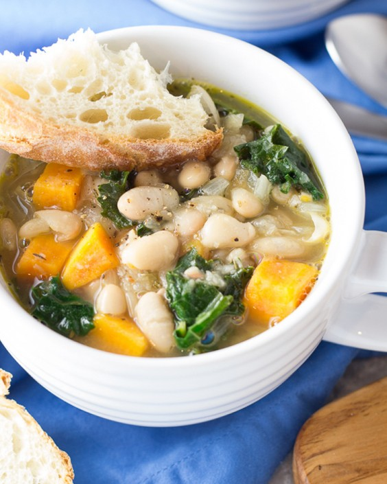 Healthy Dinner Recipes for Beginners: 30-Minute Tuscan White Bean and Kale Soup by Kristine's Kitchen Blog