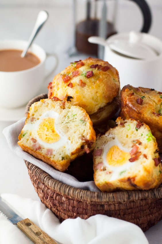 13. Egg & Bacon Breakfast Muffins