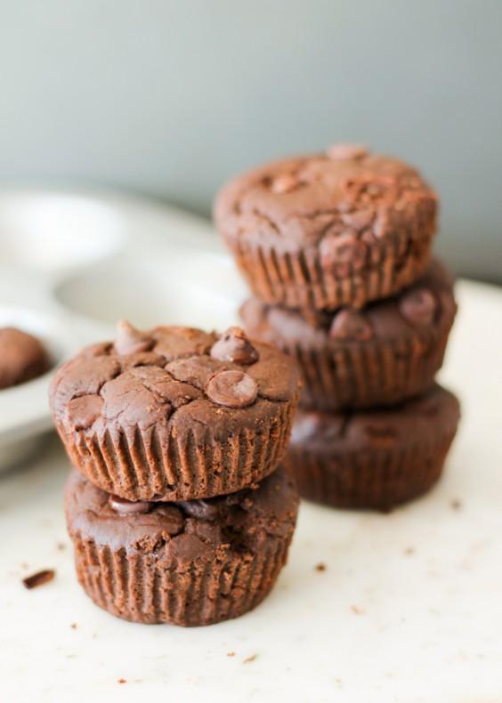 15. Gluten-Free Flourless Black Bean Brownie Muffins