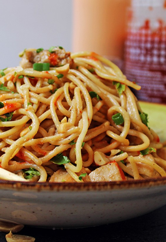 5-Ingredient Dinner: Peanut Noodles