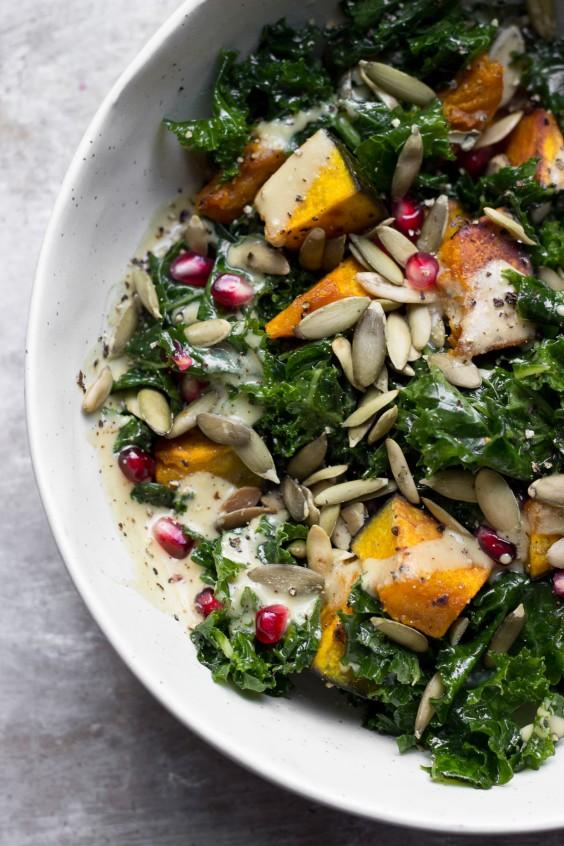 Detox Recipes: Kale Salad With Kabocha