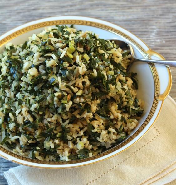 Greens Recipe: Dirty Rice With Collard Greens and Leeks