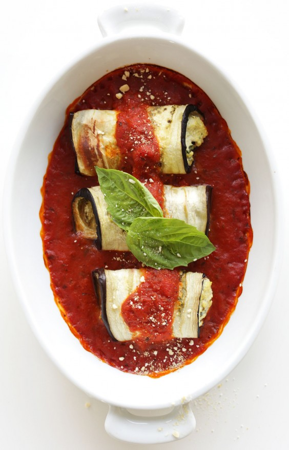 Low-Carb Recipes: Vegan Eggplant Lasagna Roll-Ups