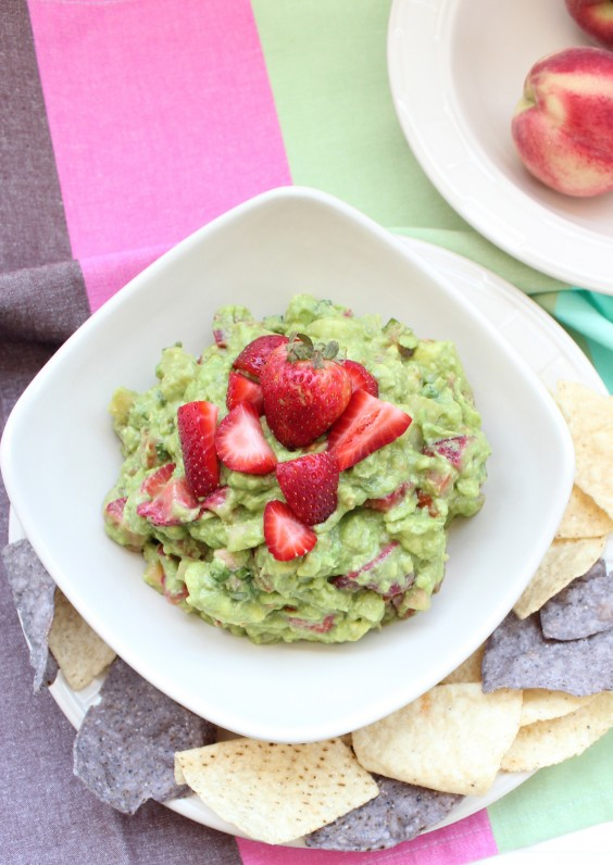 Strawberry Peach Guacamole Recipe