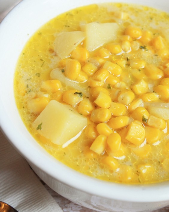 Healthy Dinner Recipes for Beginners: Corn Off the Cob Soup by Mostly Homemade Mom