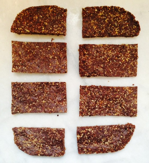 Raw Salted Chocolate Almond Bars
