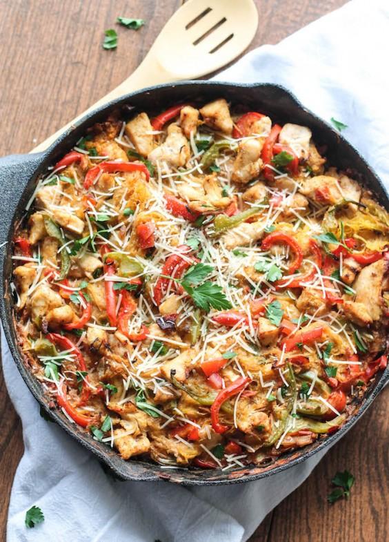 Cajun Chicken Spaghetti Squash Dish