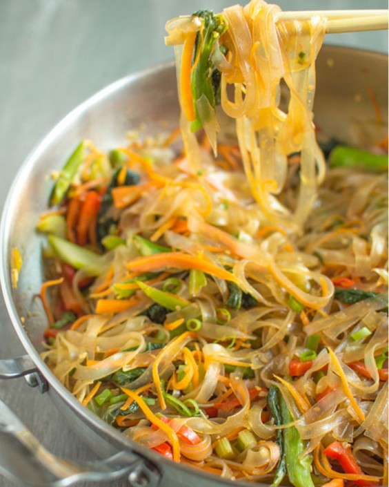 Vegetable Stir-Fry Mung Bean Noodles