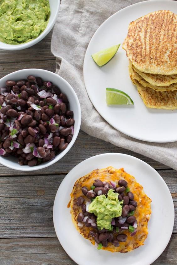 Low-Carb Recipes: Gluten-Free Black Bean and Jalapeño Cauliflower Tostadas