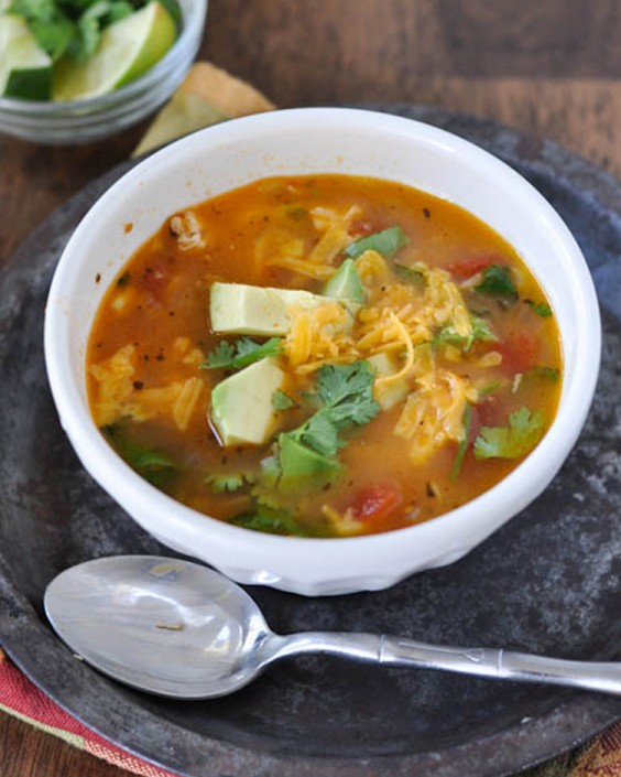 Healthy Dinner Recipes for Beginners: Mom's Simple Chicken Tortilla Soup by Nutritious Eats