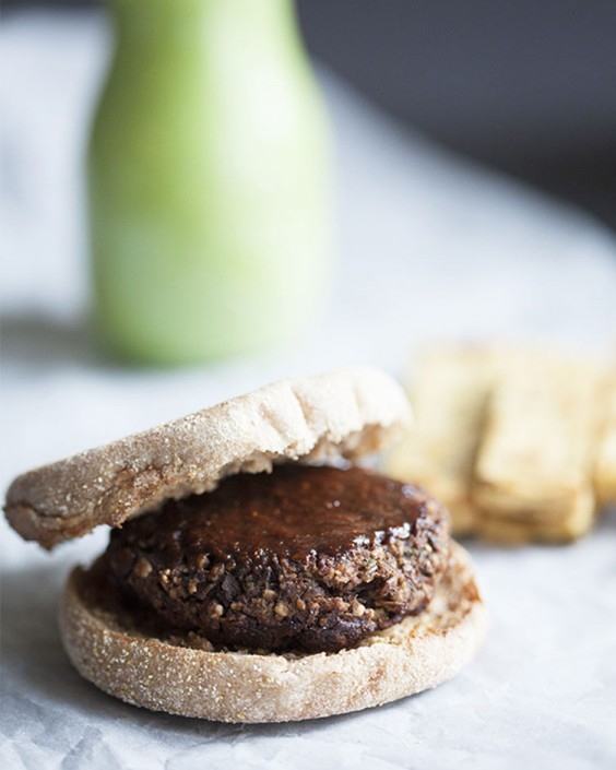 Lentil Tamarind BBQ Burgers With Chickpea Fries