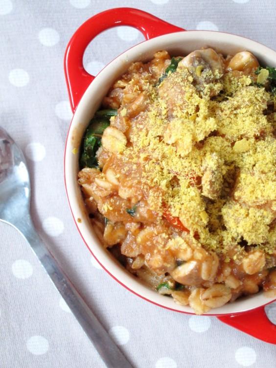 Vegetarian Recipes: Savory Pizza Porridge by The Oatmeal Artist