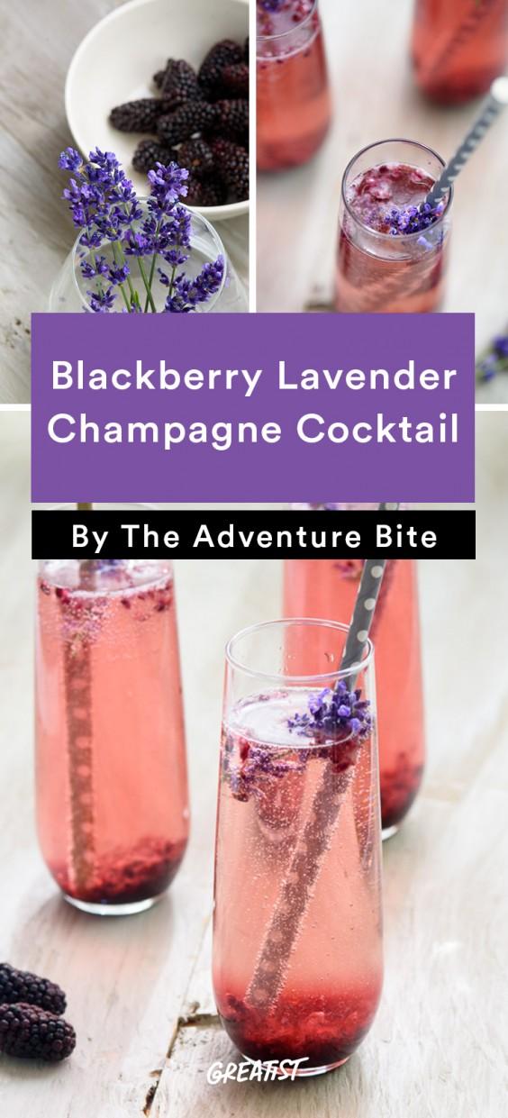 Blackberry Lavender Champagne Cocktail Recipe