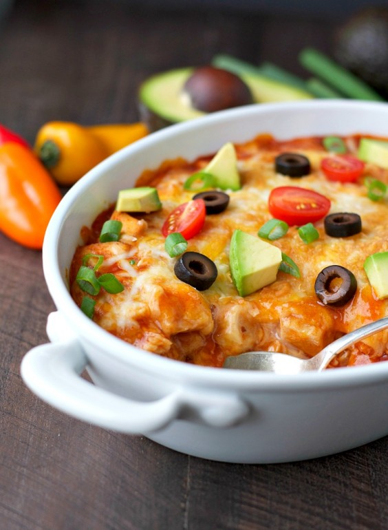 Simple dinner recipes with only five ingredients greatist 5 ingredient dinner chicken enchilada casserole forumfinder Choice Image