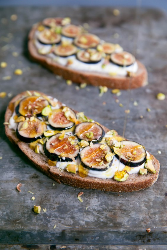 honey lemon ricotta breakfast toast