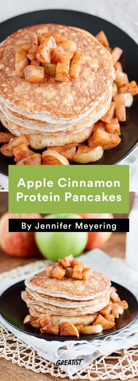 Breakfast for Dinner Recipes: Apple Cinnamon Protein Pancakes