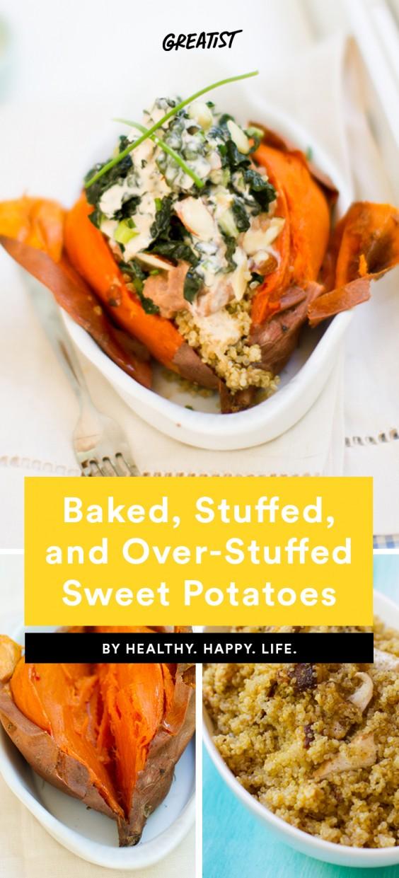 Baked Stuffed and Over-Stuffed Sweet Potatoes