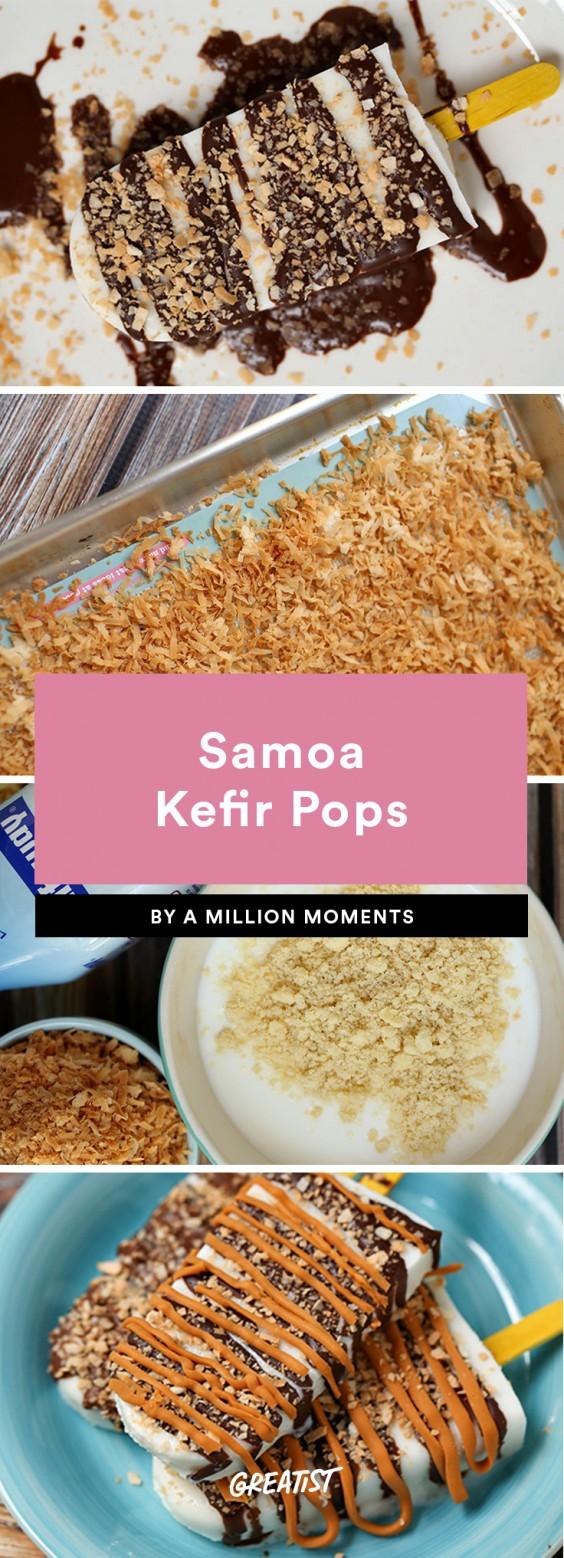 Samoa Kefir Pops