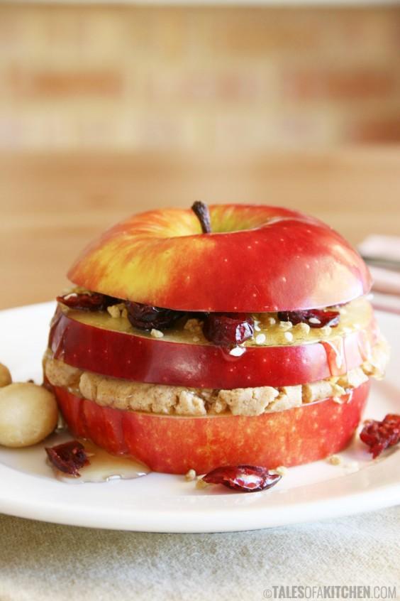 Triple Layered Breakfast Apple Sandwich