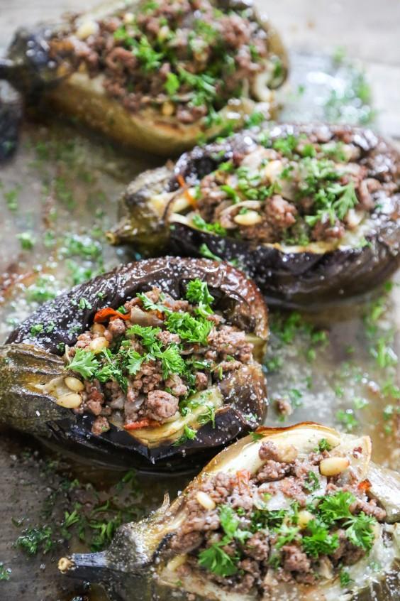 Low-Carb Recipes: Stuffed Baby Eggplants