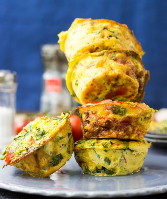 Top Pinned Breakfasts 2016: Spicy Vegetable Egg Muffins