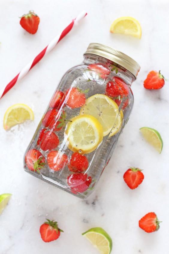 Fruit-Infused Water: Chia Fruit Water