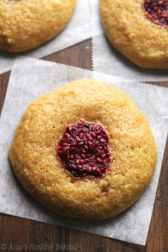 clean raspberry thumbprint cookies