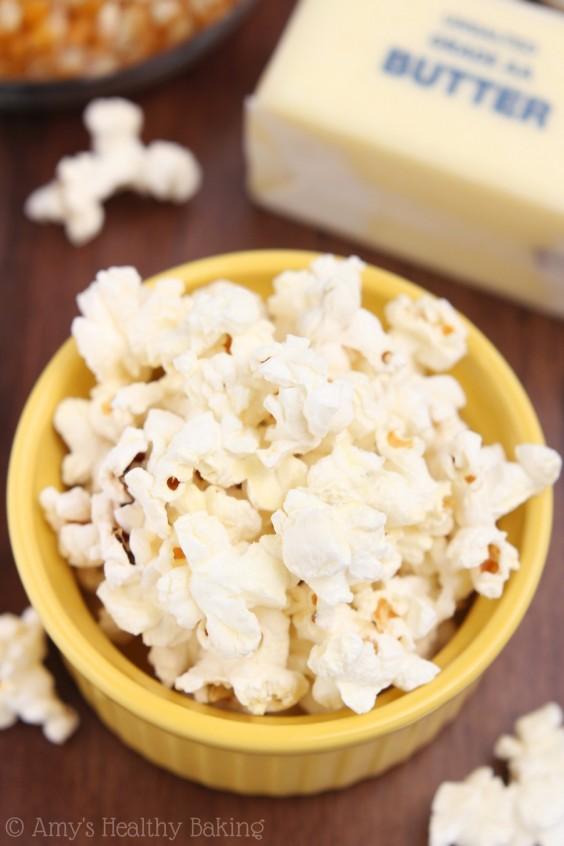 20. Skinny Buttered Popcorn