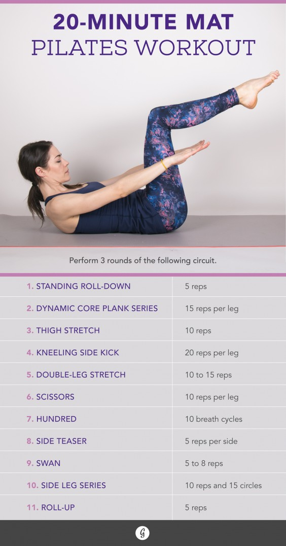 Pilates Workouts The 20 Minute Pilates Exercise For Any