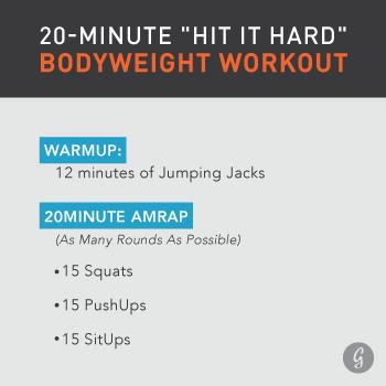 Workout: Jason Khalipa 20-Minute Bodyweight Hit It Hard