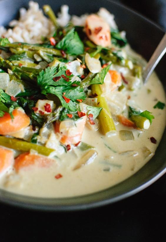 Sad veg: Thai Green Curry With Spring Vegetables