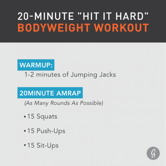Workout Jason Khalipa 20 Minute Bodyweight Hit It Hard