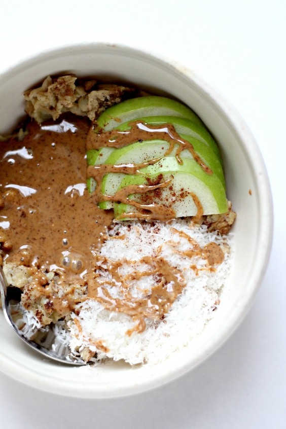 Almond Butter Banana and Coconut Energy Bowl