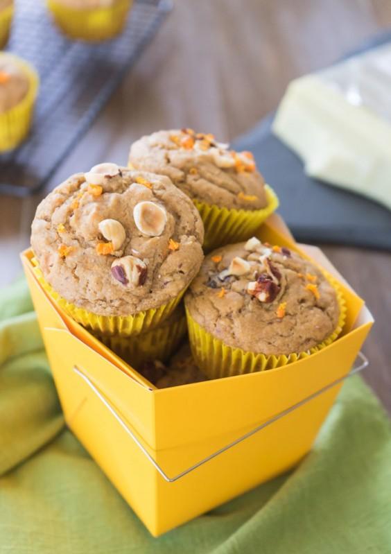 21. Orange Hazelnut Muffins