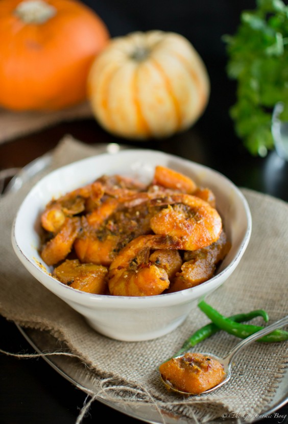 Pumpkin and Prawns Curry