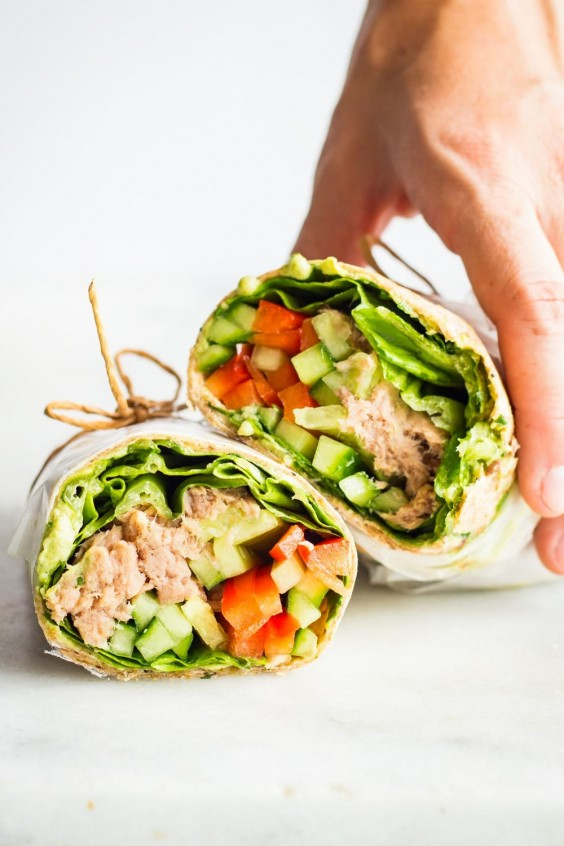 Tuna Wrap Photo Green Healthy Cooking