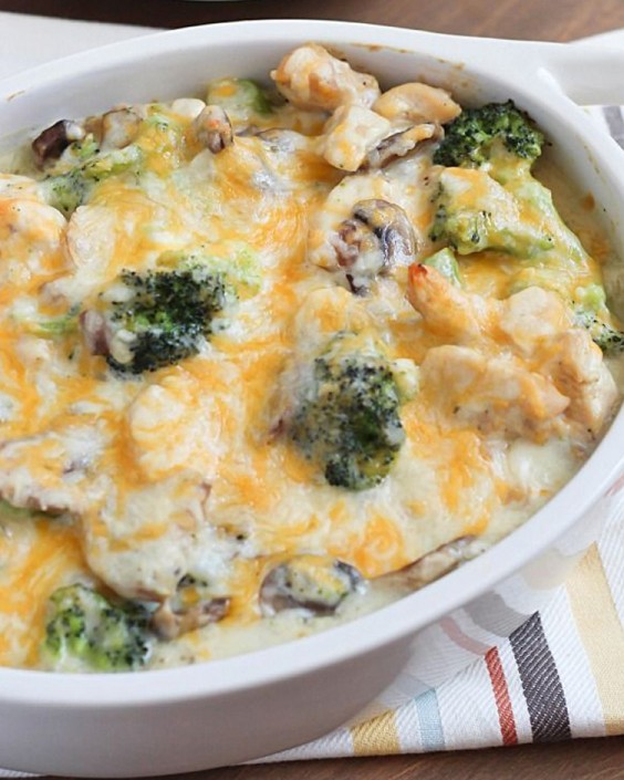 Healthy Dinner Recipes for Beginners: Skinny Chicken and Broccoli Casserole by Yummy Healthy Easy