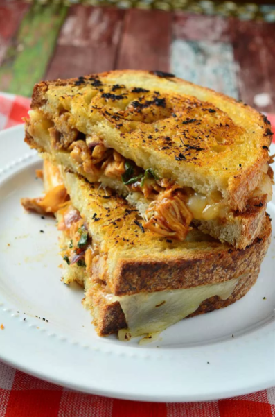 bbq grilled cheese sandwich