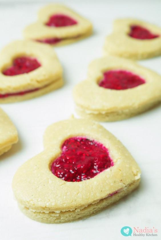 healthy linzer cookies