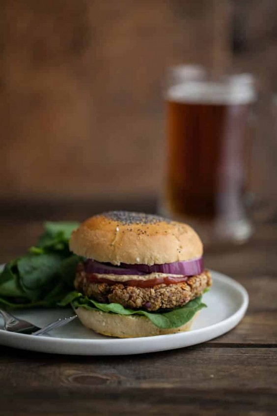 Brown Rice, Oat, and Nut Veggie Burgers