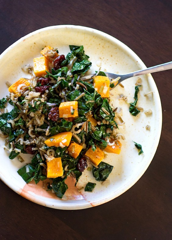 Detox Recipes: Wild Rice and Butternut Squash Salad